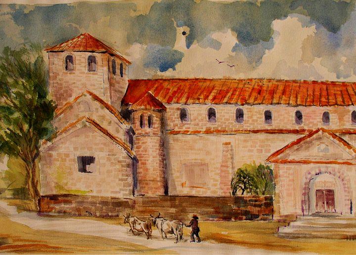 Church in Spain - Charles Gresalfi Fine Art