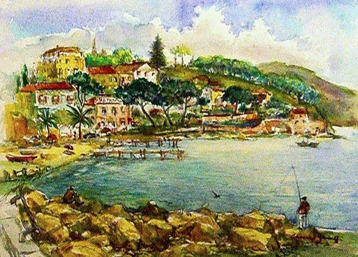 Santa Margharita Ligure - Bay Italy - Charles Gresalfi Fine Art
