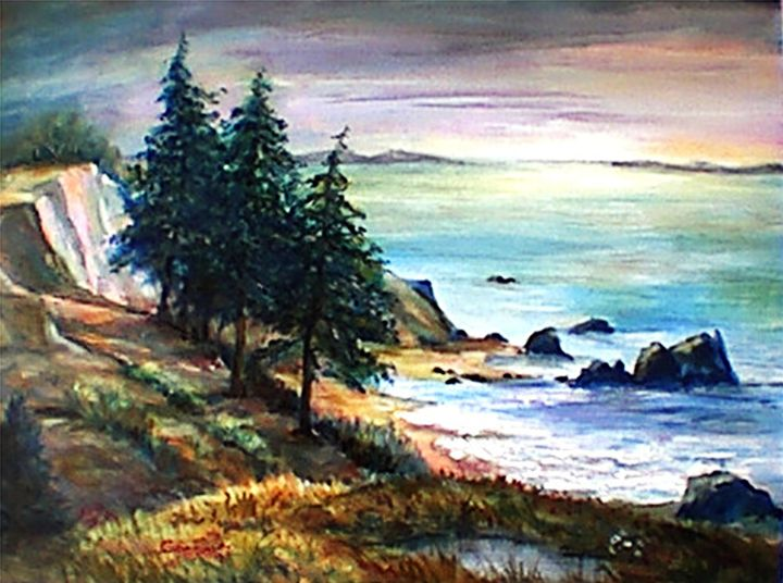Coastal Pines - Charles Gresalfi Fine Art
