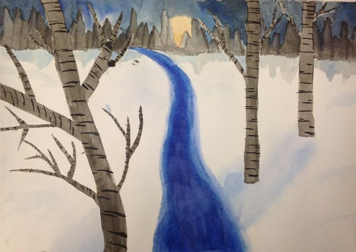 Backyard Winter - Lexi Odle Art