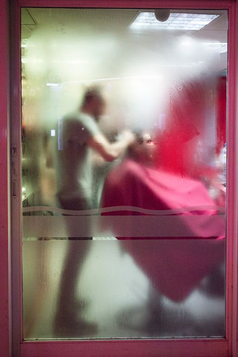 Barbershop Abstract - Linda Wisdom