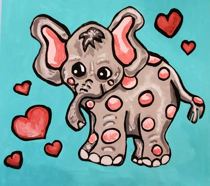Who Doesn't love a Baby Elephant - Justrita