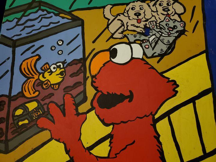 Elmo loves a fish - Justrita