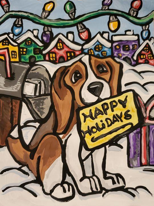 Happy Holidays Beagle - Justrita