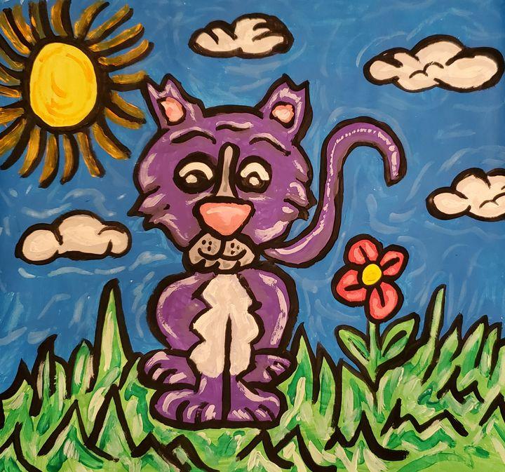 Purple Kitty - Justrita