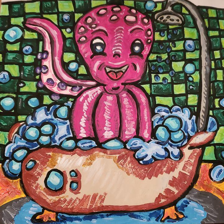 Octopus in a Tub - Justrita