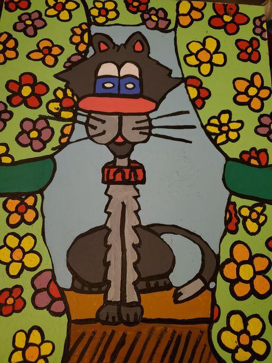Flower power kitty - Justrita