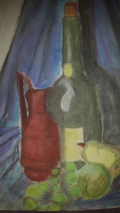 Bottle and wine - Mark Lynch