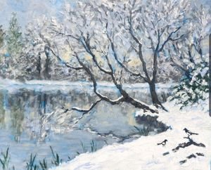 snow on the river II