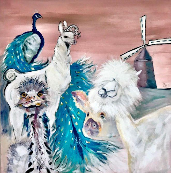Fat farm animals - Neil Travis Mayes
