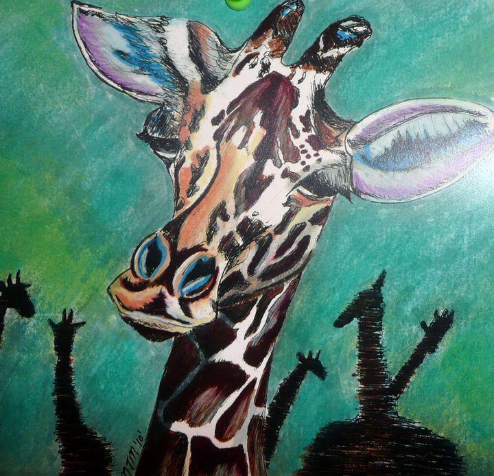 Giraffe head - Neil Travis Mayes