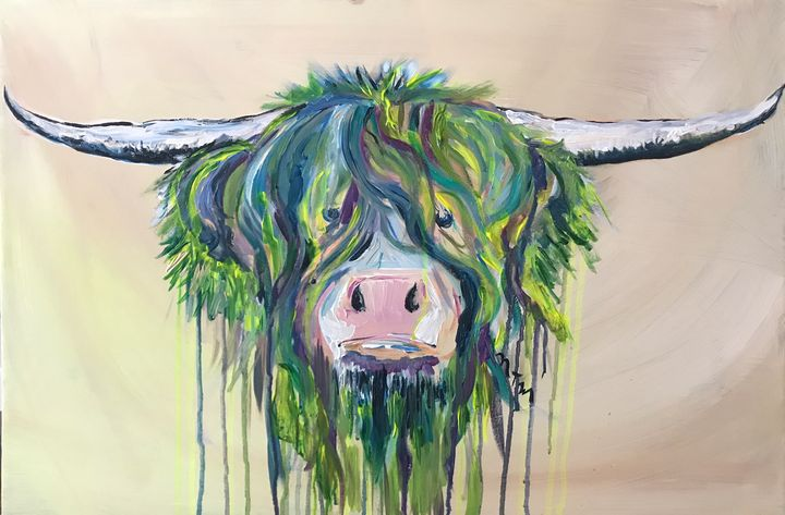 Highlander cow - Neil Travis Mayes