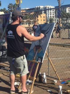 art contest Santa MOnica Pier - Neil Travis Mayes
