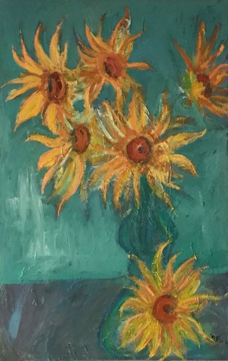 Sunflowers in Bong - Neil Travis Mayes