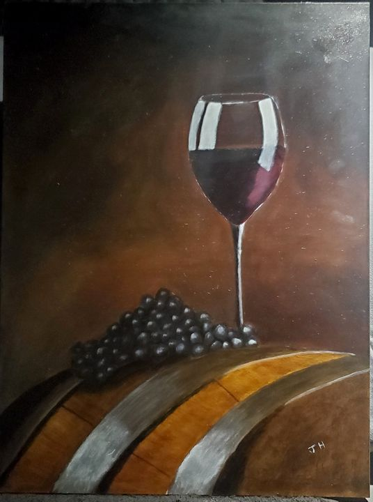 Glass on barrel - HRIBER ART