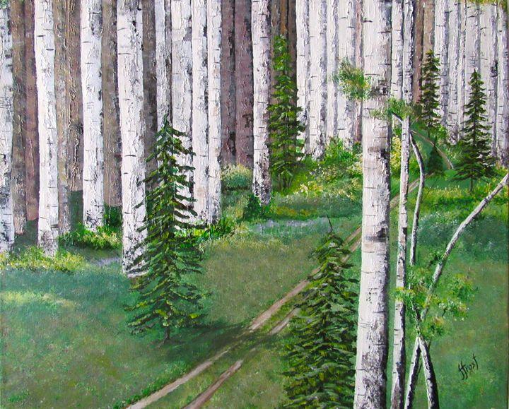 Birch Road Spring - Jan Holmes Frost