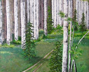 Birch Road Spring - Jan Holmes Frost