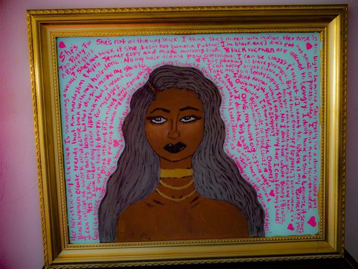 God is a black woman... - Art by Zeno