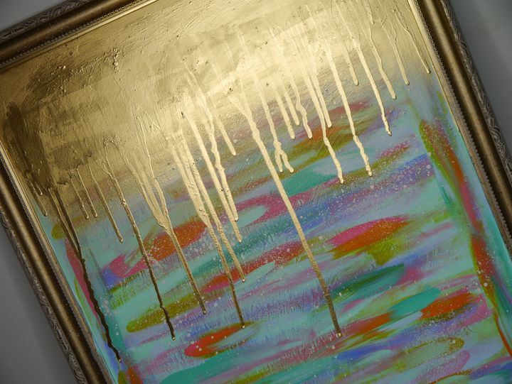 Abstract with gold - Art by Zeno