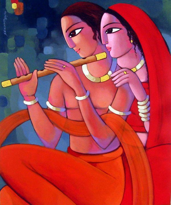 COUPLE - sekhar Roy's art