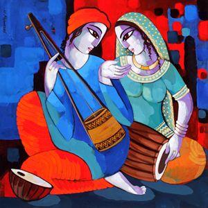 Music iii - sekhar Roy's art