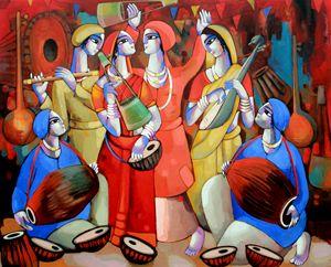 FOLK SINGER - sekhar Roy's art