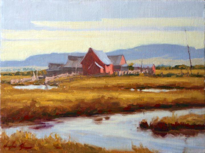 Little Painted Barn Scene - DoyleShaw