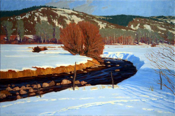 Rural Creek in Snow - DoyleShaw