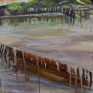 Abandoned oyster basin