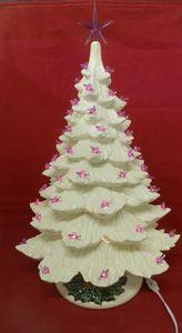 """26"""" White  Ceramic Christmas Tree"""