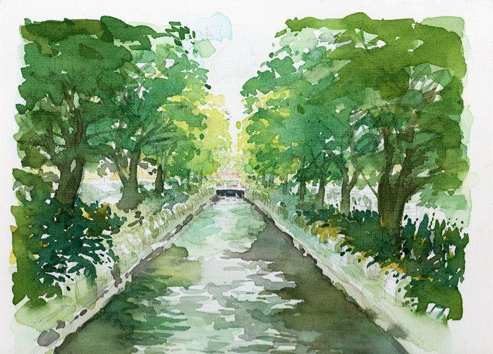 Canal in Bangkok - vallop
