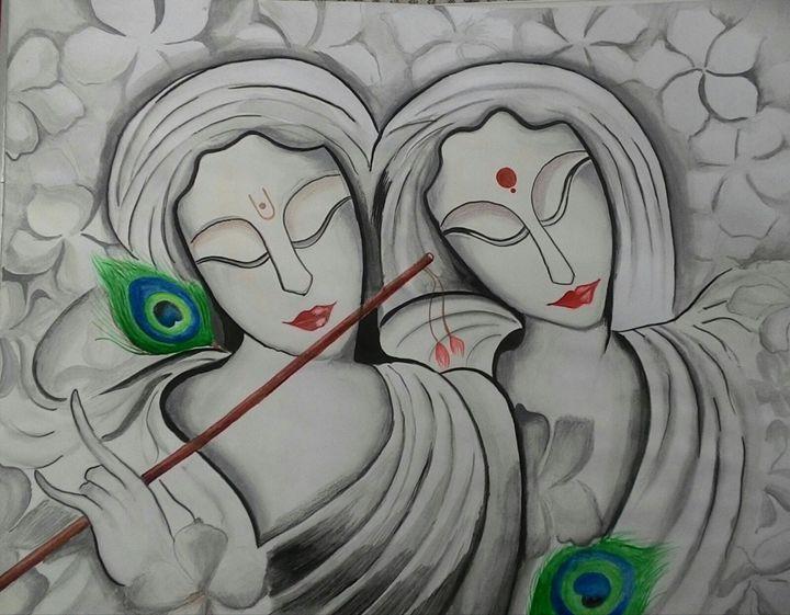 krishna modern art - A's Art