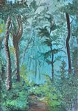 Forest.Original painting.