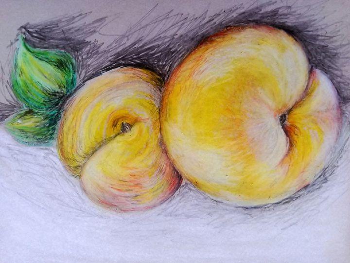 Still life - peaches - Marelise Phillips