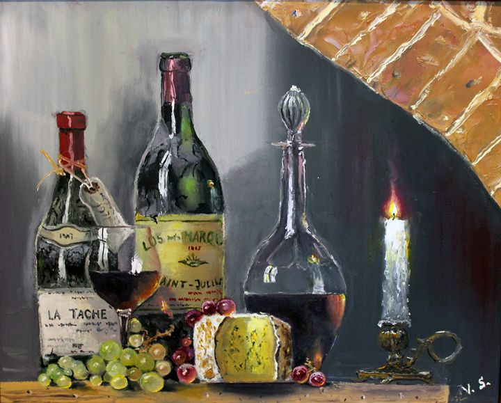 Still life with a lighted candle - Vlad Solomaha