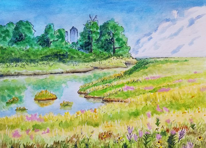 Habitat Mosaic - Keygan Sands Watercolor Art