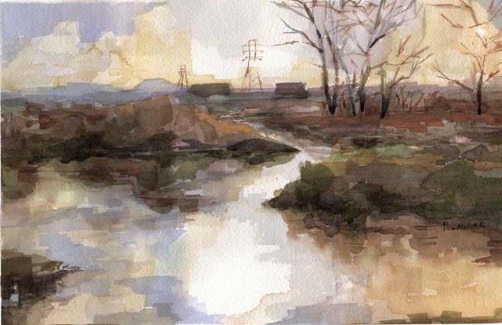 Marsh at Sunset - Michael Lawler Art