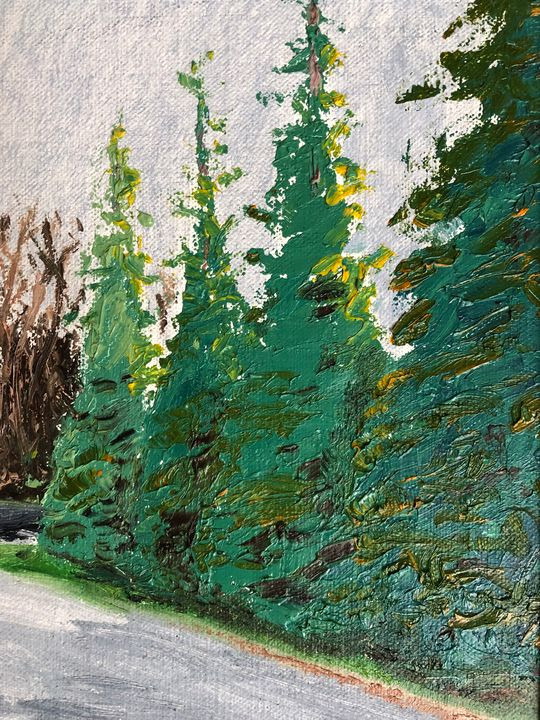 Trees by the path - Blandine Broomfield