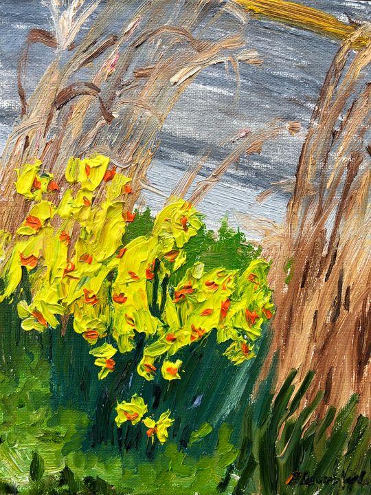 Daffodils by the Sunoco - Blandine Broomfield