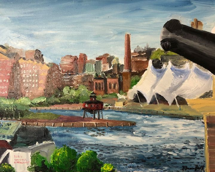 Baltimore Harbor from Federal Hill - Blandine Broomfield