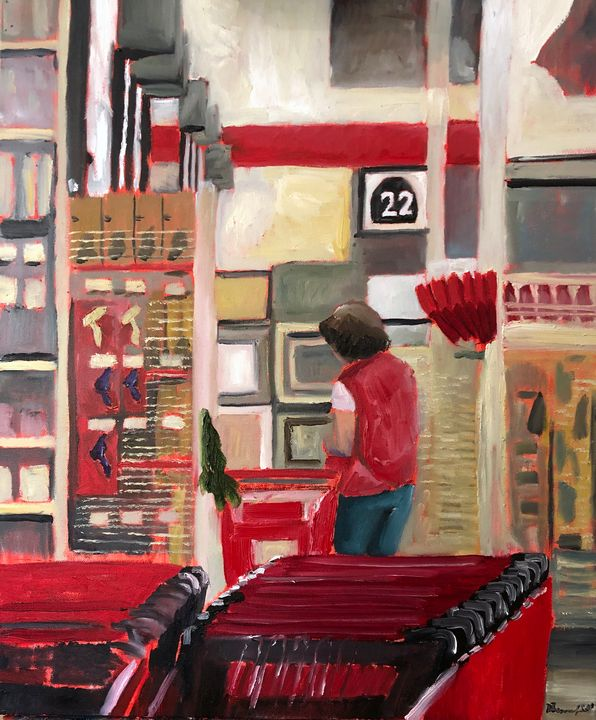 Anna Doing Shopbacks at Michaels - Blandine Broomfield