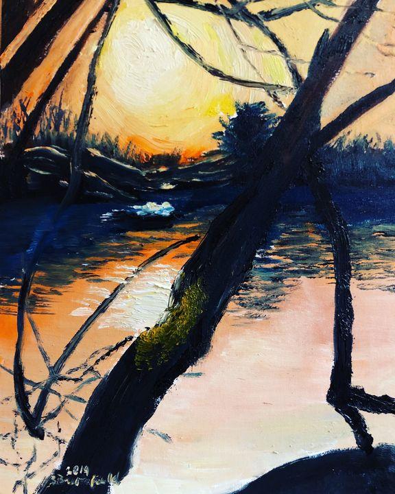 Sunrise at Misty Lake - Blandine Broomfield