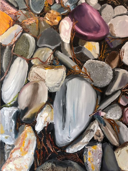 River Rocks with Arbor Vitae - Blandine Broomfield