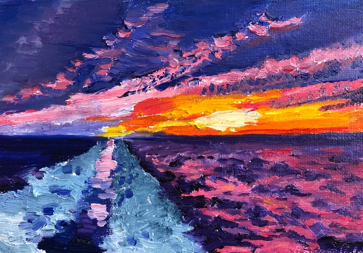 Cruise Sunset - Blandine Broomfield