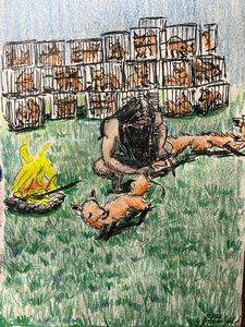 Samson Traps the Foxes