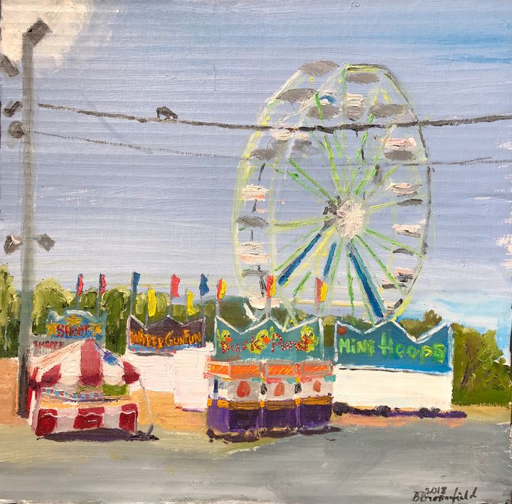 The Ferris Wheel At the Fire Station - Blandine Broomfield