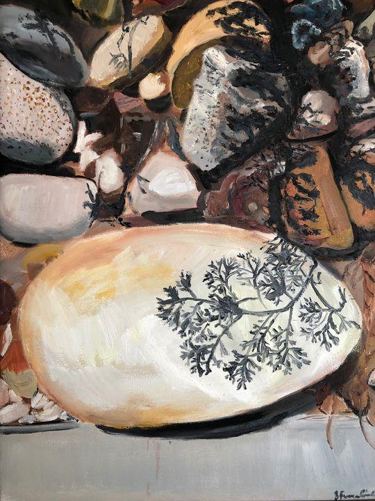 My Rock Garden with Artemesia Shadow - Blandine Broomfield