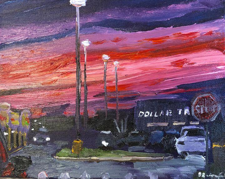 Sunset Behind the Dollar Tree - Blandine Broomfield