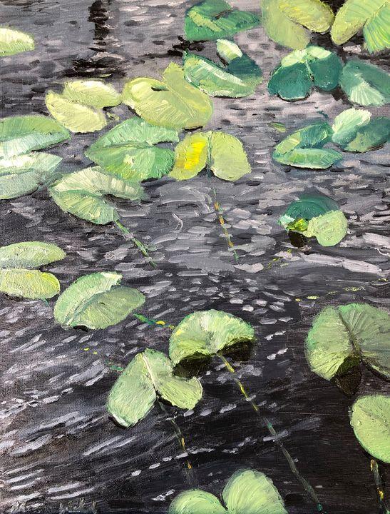 Lotus Leaves and Ripples - Blandine Broomfield