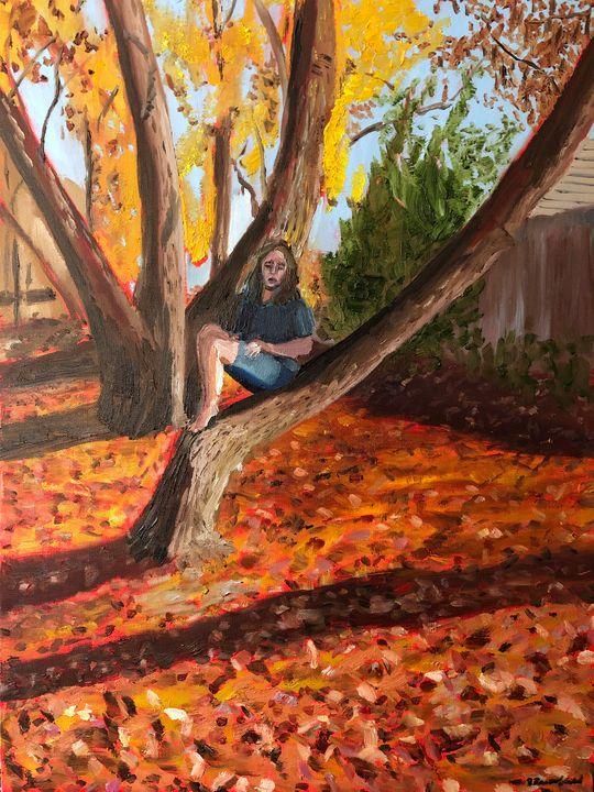 Tabitha in the Tree - Blandine Broomfield